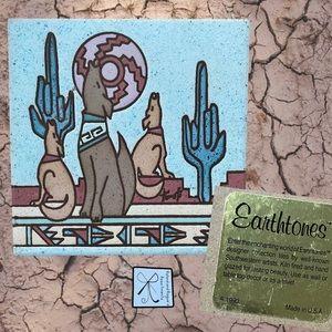 Earthtones 1990 Southwestern Desert Tile Trivet